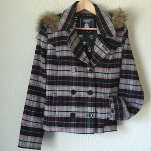 PINK BY VICTORIA SECRET HOODED PEACOAT SZ M